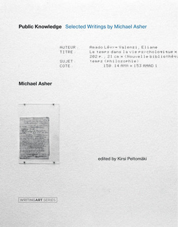 Public Knowledge by Michael Asher