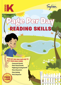 Kindergarten Page Per Day: Reading Skills