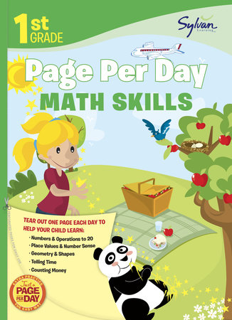 1st Grade Page Per Day: Math Skills by Sylvan Learning