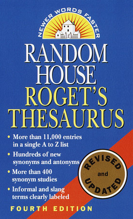 Random House Roget's Thesaurus by Random House