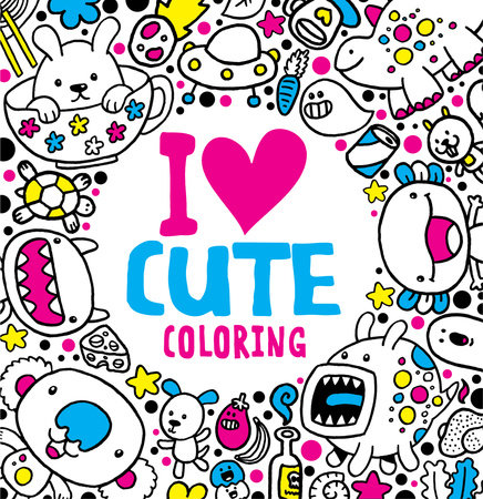 I Heart Cute Coloring by