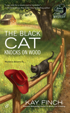 The Black Cat Knocks on Wood by Kay Finch