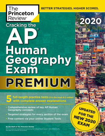 Cracking the AP Human Geography Exam 2020, Premium Edition by The Princeton Review