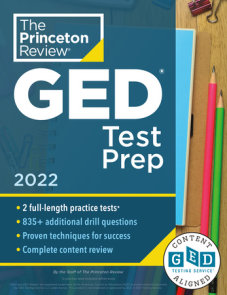 Princeton Review GED Test Prep, 2022
