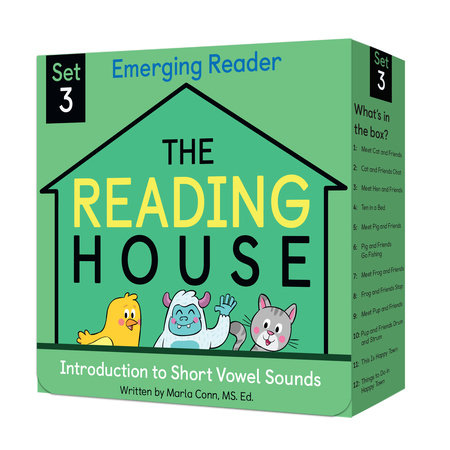 The Reading House Set 3: Introduction to Short Vowel Sounds by Marla Conn