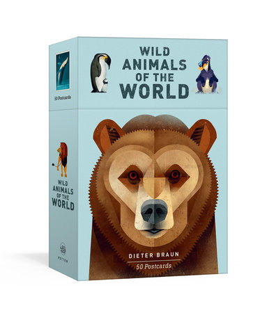 Wild Animals of the World: 50 Postcards by Dieter Braun