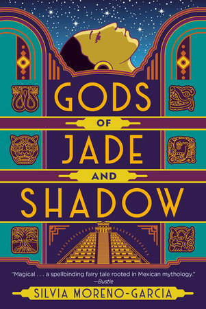 cover art of Gods of Jade & Shadow featuring Art Deco design and Mayan Symbols