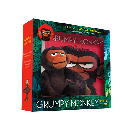 Grumpy Monkey Book and Toy Set by Suzanne Lang