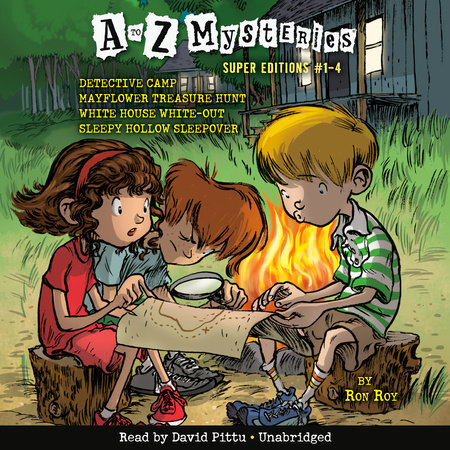 A to Z Mysteries Super Editions #1-4 by Ron Roy