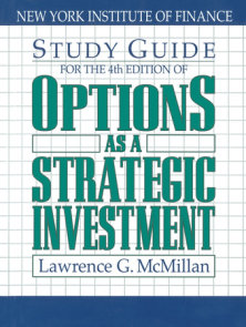 Study Guide for the 4th Edition of Options as a Strategic Investment