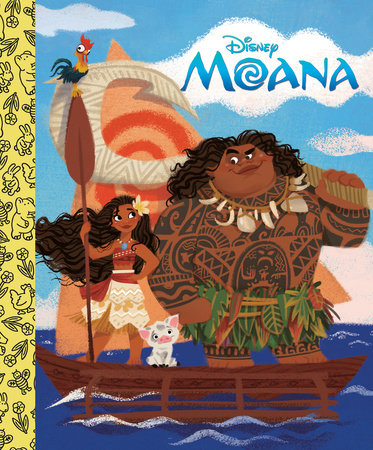 Moana Little Golden Board Book (Disney Princess) by RH Disney
