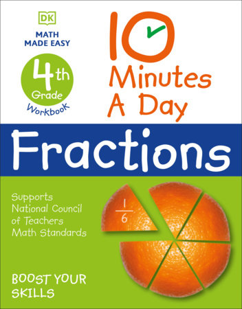 10 Minutes a Day Fractions, 4th Grade