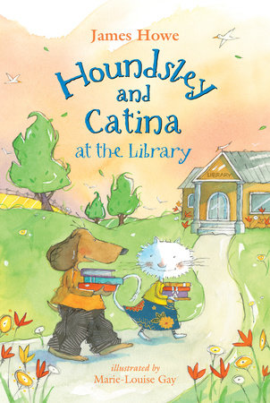 Houndsley and Catina at the Library by James Howe