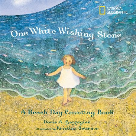 One White Wishing Stone by Doris Gayzagian