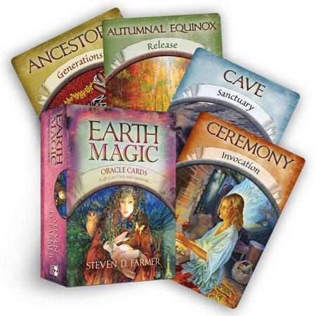 Earth Magic Oracle Cards by Steven D. Farmer