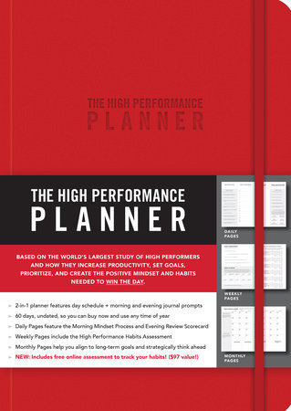 The High Performance Planner [Red] by Brendon Burchard