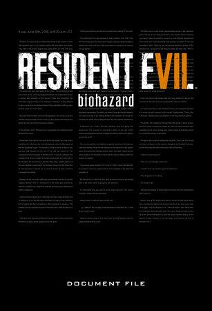 Resident Evil 7: Biohazard Document File by Capcom