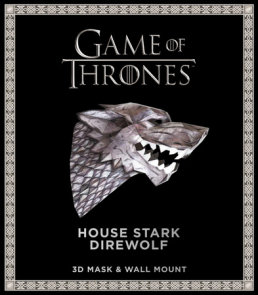 Game of Thrones Mask: House Stark Direwolf (3D Mask & Wall Mount)