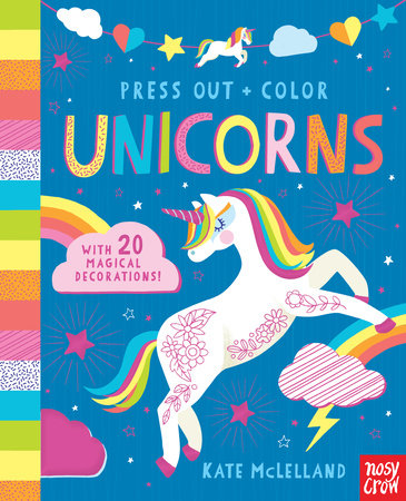 Press Out and Color: Unicorns by Nosy Crow
