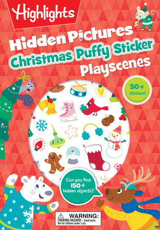 Christmas Hidden Pictures Puffy Sticker Playscenes by