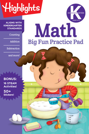 Kindergarten Math Big Fun Practice Pad by Highlights Learning