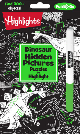 Dinosaur Hidden Pictures Puzzles to Highlight by