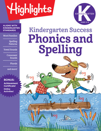 Kindergarten Phonics and Spelling Learning Fun Workbook by