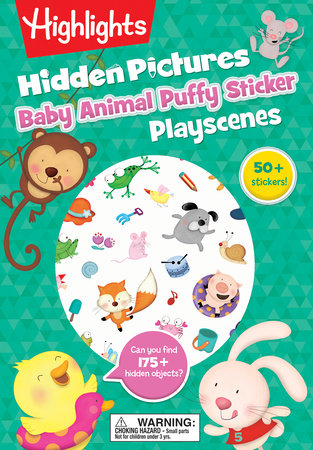 Baby Animal Hidden Pictures Puffy Sticker Playscenes by