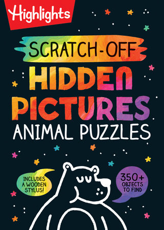Scratch-Off Hidden Pictures Animal Puzzles by