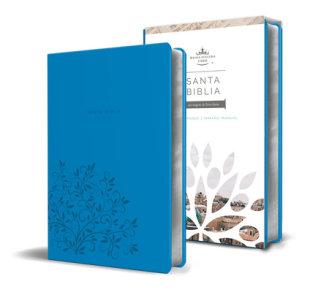 Santa Biblia RVR 1960 - Tamaño manual, letra grande, cuero de imitación, color azul / Spanish Holy Bible RVR 1960, Handy Size, Large Print