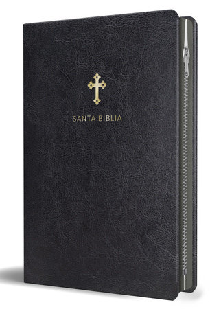 Biblia Reina Valera 1960 letra grande. Símil piel negro con cremallera / Spanish Holy Bible RVR 1960. Large Print, Black Leathersoft, with Zipper by Reina Valera Revisada 1960