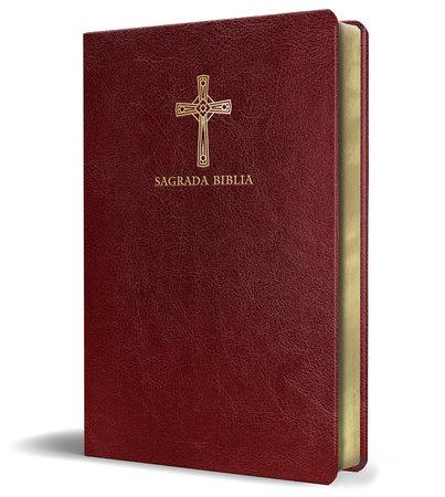 Biblia Católica en español. Símil piel vinotinto, tamaño compacto / Catholic Bible. Spanish-Language, Leathersoft, Wine, Compact by Biblia de América