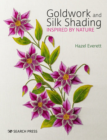 Goldwork and Silk Shading Inspired by Nature by Hazel Everett